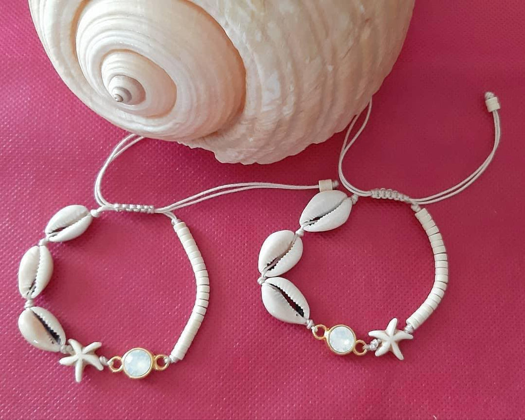 Shell Bracelet with Swarovski