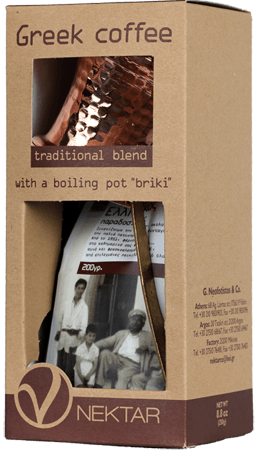 Briki and Traditional Greek Coffee Blend