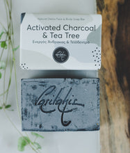 Load image into Gallery viewer, Activated Charcoal & Tea Tree Soap Bar