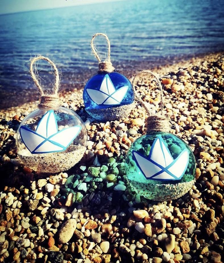 Glass Baubles Summer Collection