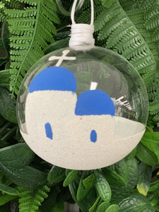 Glass Baubles Santorini and Milos IN STOCK NOW