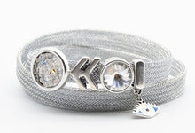 Load image into Gallery viewer, Metal Mesh Bracelets Triple Wrap