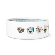 hipster dogs pet bowl