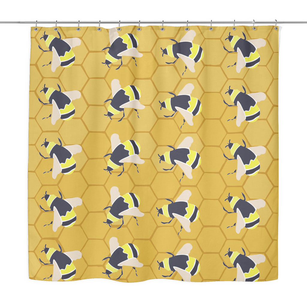 Bumble Bee Shower Curtain ...