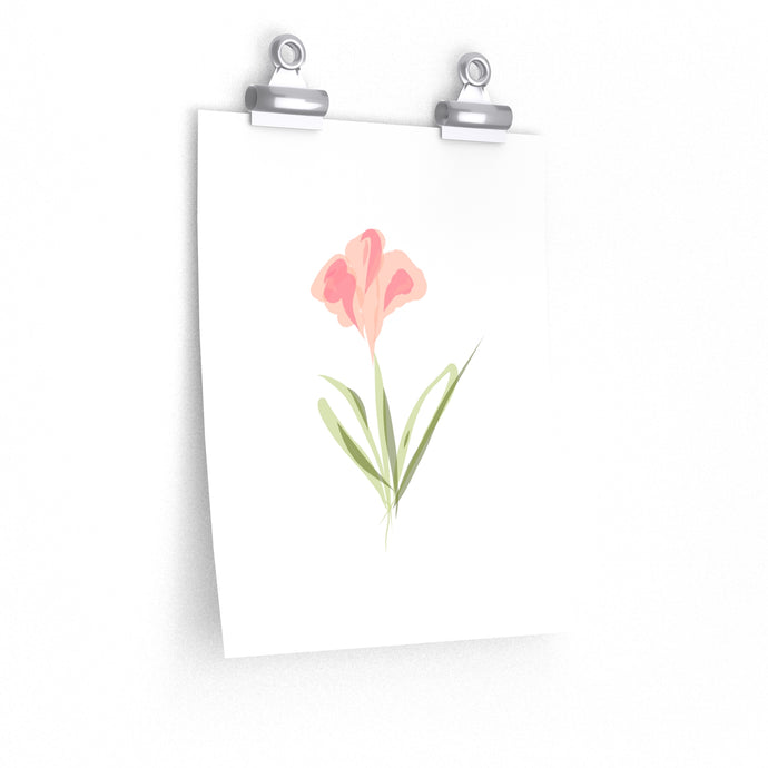 blush watercolour flower art print