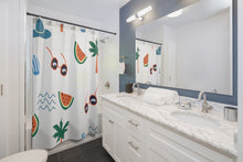 beach daze shower curtain 74""