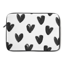 black hearts laptop sleeve