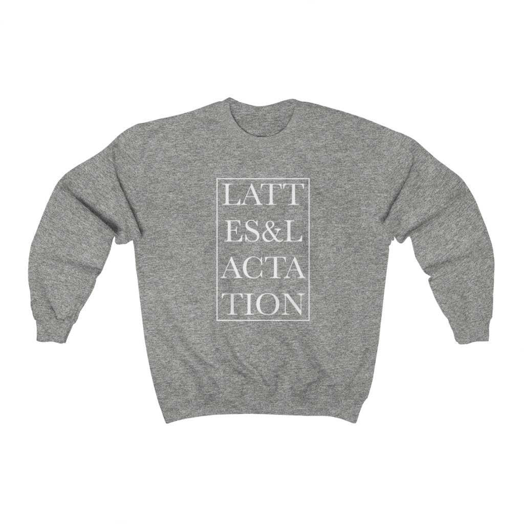 lattes and lactation ™ unisex crewneck sweatshirt