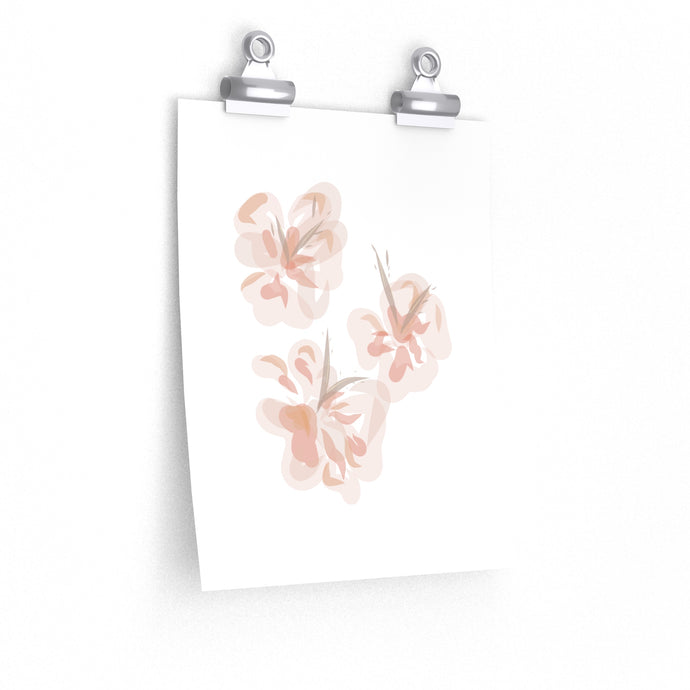 watercolour hibiscus art print