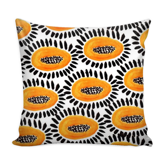 papaya tropical pillow cover