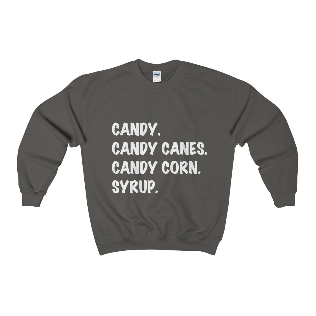 elves main food groups heavy crewneck sweater (more colours)