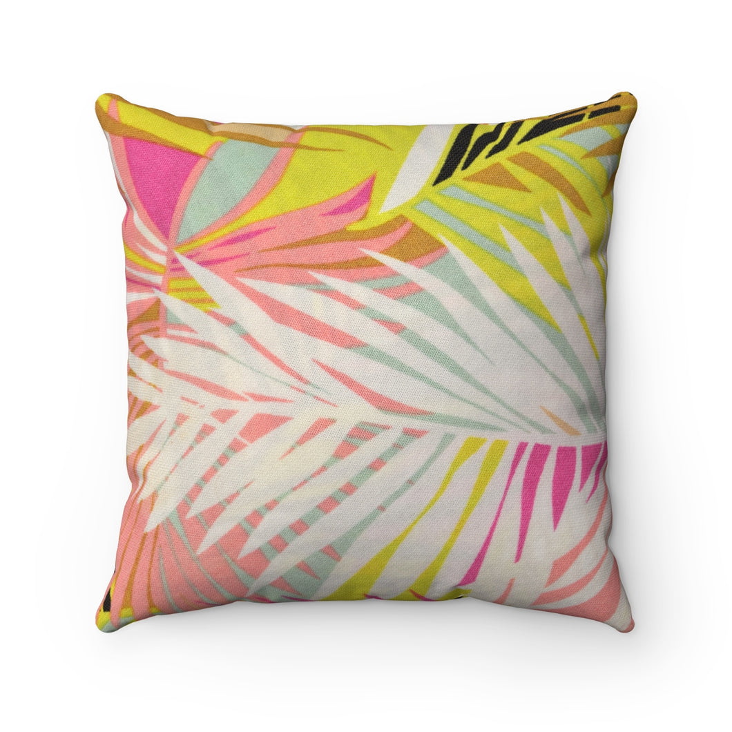 bright tropics pillow