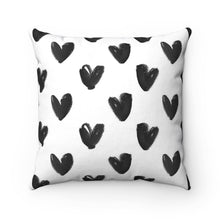 black hearts throw pillow