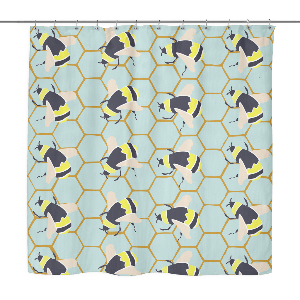 Superbe Bumble Bee Shower Curtain