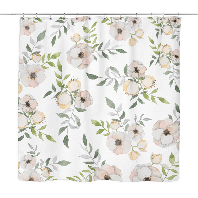 floral blush shower curtain