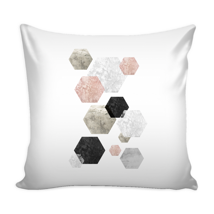 rose hex pillow cover