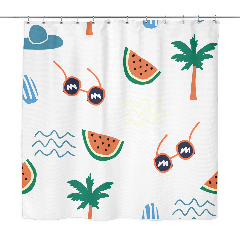 beach daze shower curtain