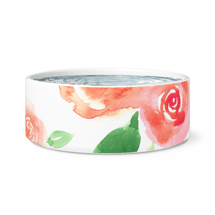 rose pet bowl