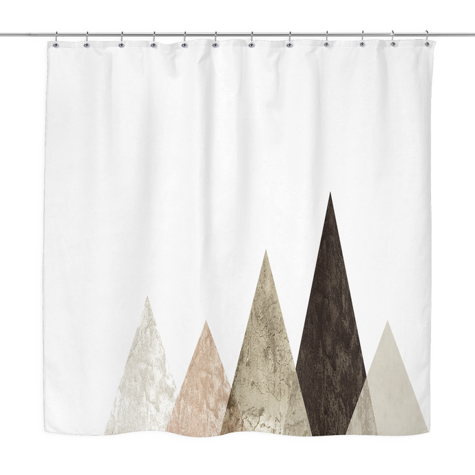 brown peaks shower curtain