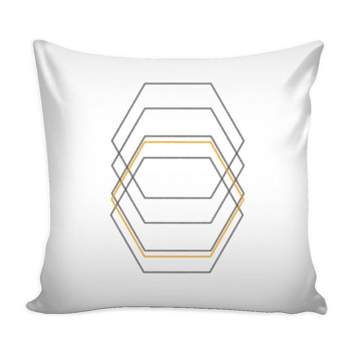 hexagon pillow cover