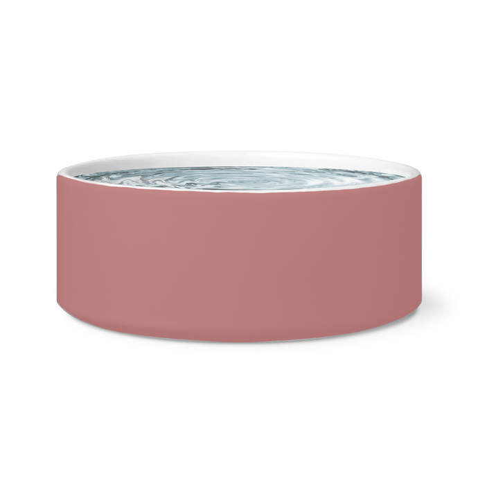 dusty rose pet bowl