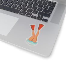 fins up scuba sticker (multiple sizes)