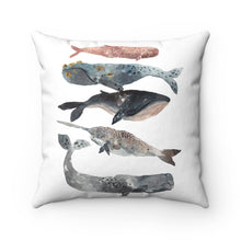 stacked whale throw pillow