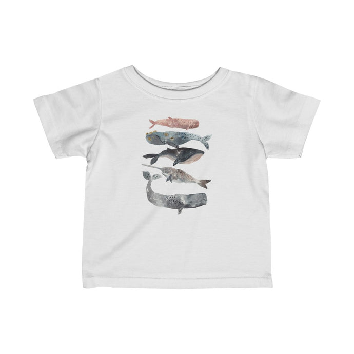 stacked whales infant t-shirt