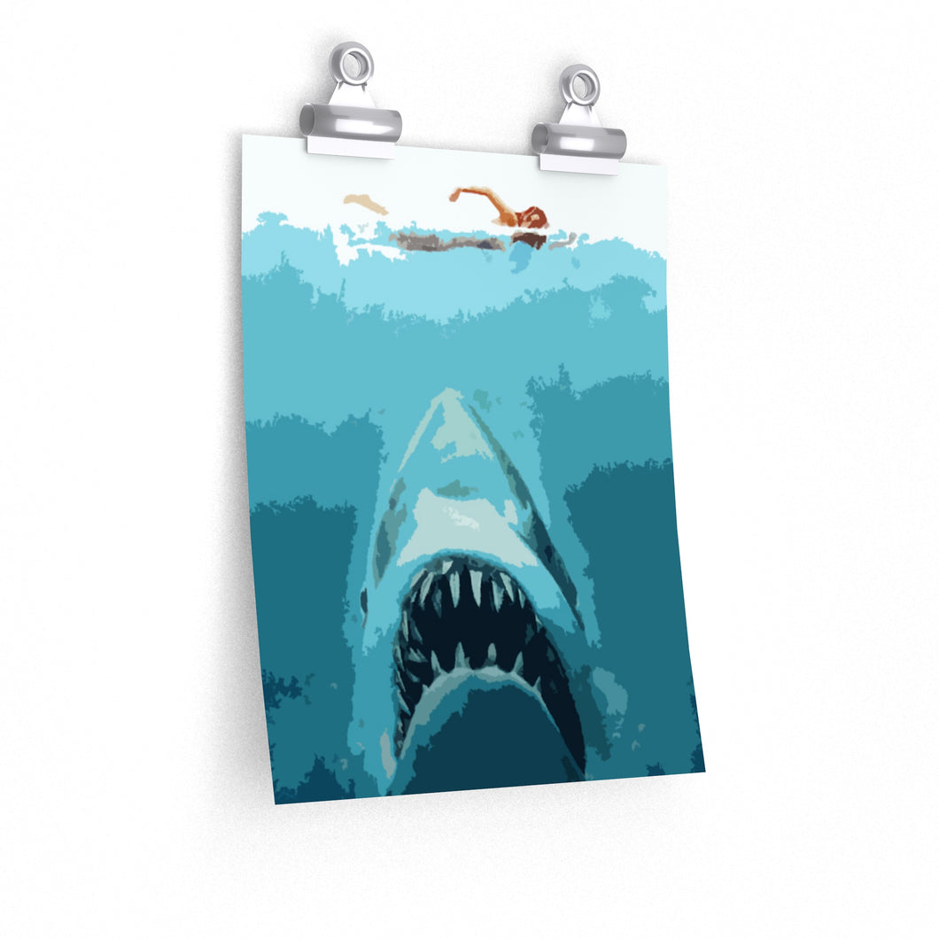 pop art jaws art print