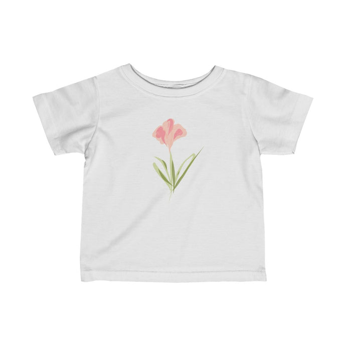 pink flower infant t-shirt