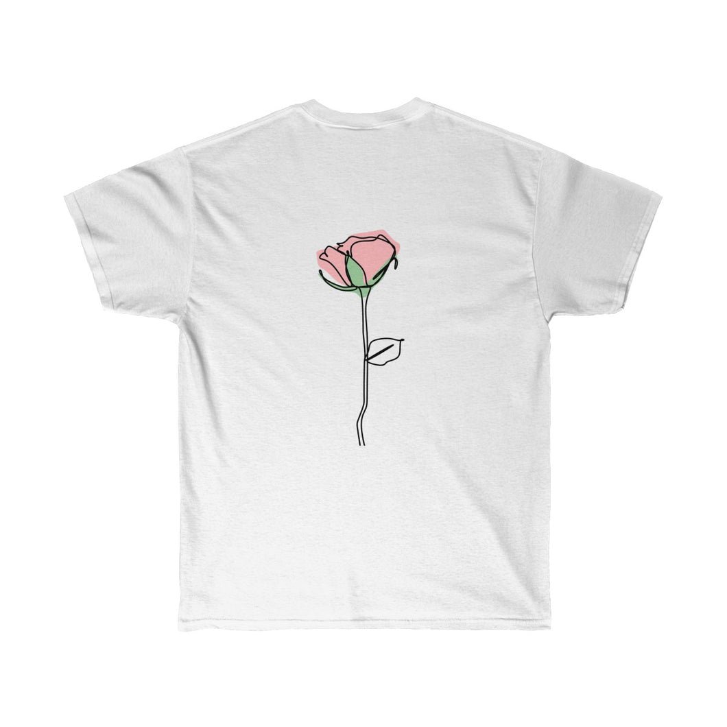 single rose t- shirt