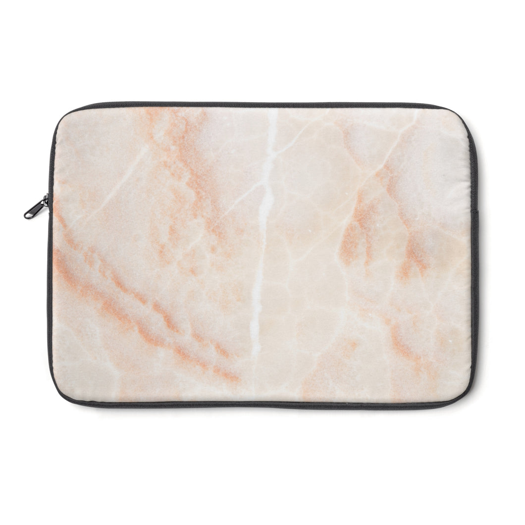 blush marble  laptop sleeve