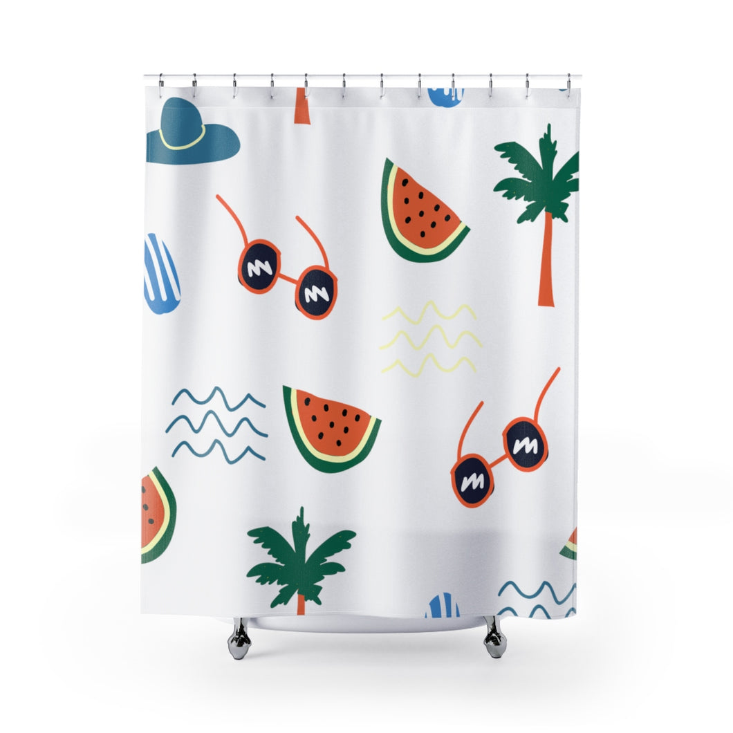 beach daze shower curtain 74