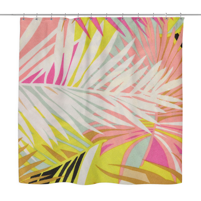 bright tropics shower curtain
