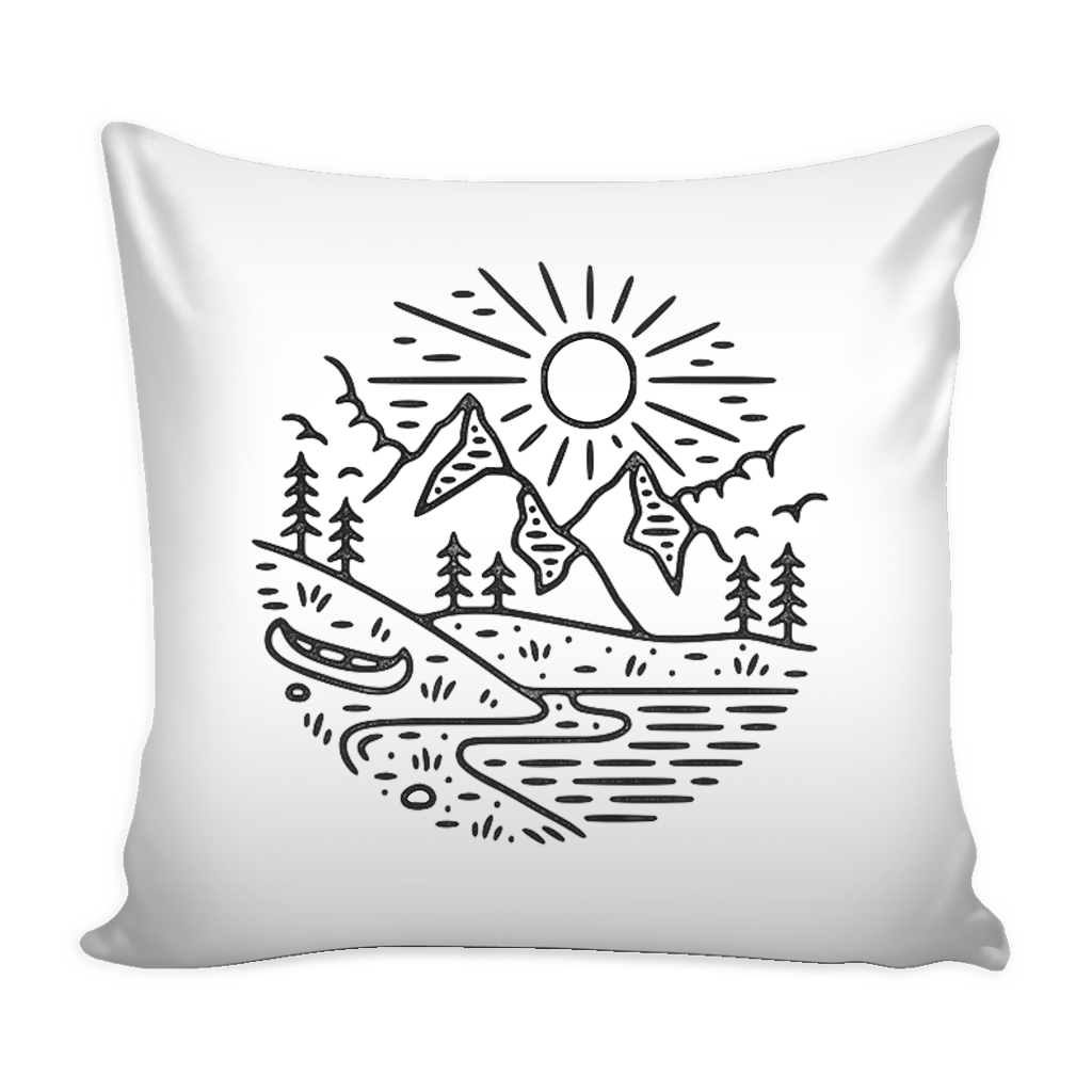 happy camper pillow cover 16 X 16
