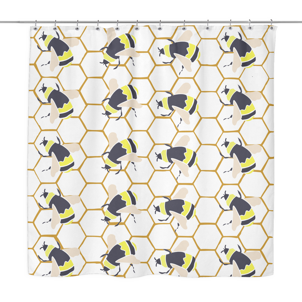 Bumble Bee Shower Curtain · Bumble Bee Shower Curtain ...