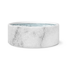 white marble pet bowl