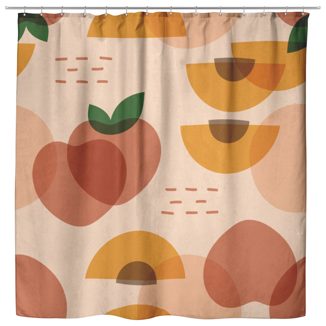 peaches and clean shower curtain