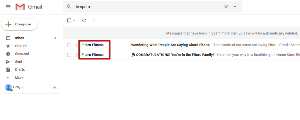 Check the spam emails and look for the one from Fitoru Fitness.
