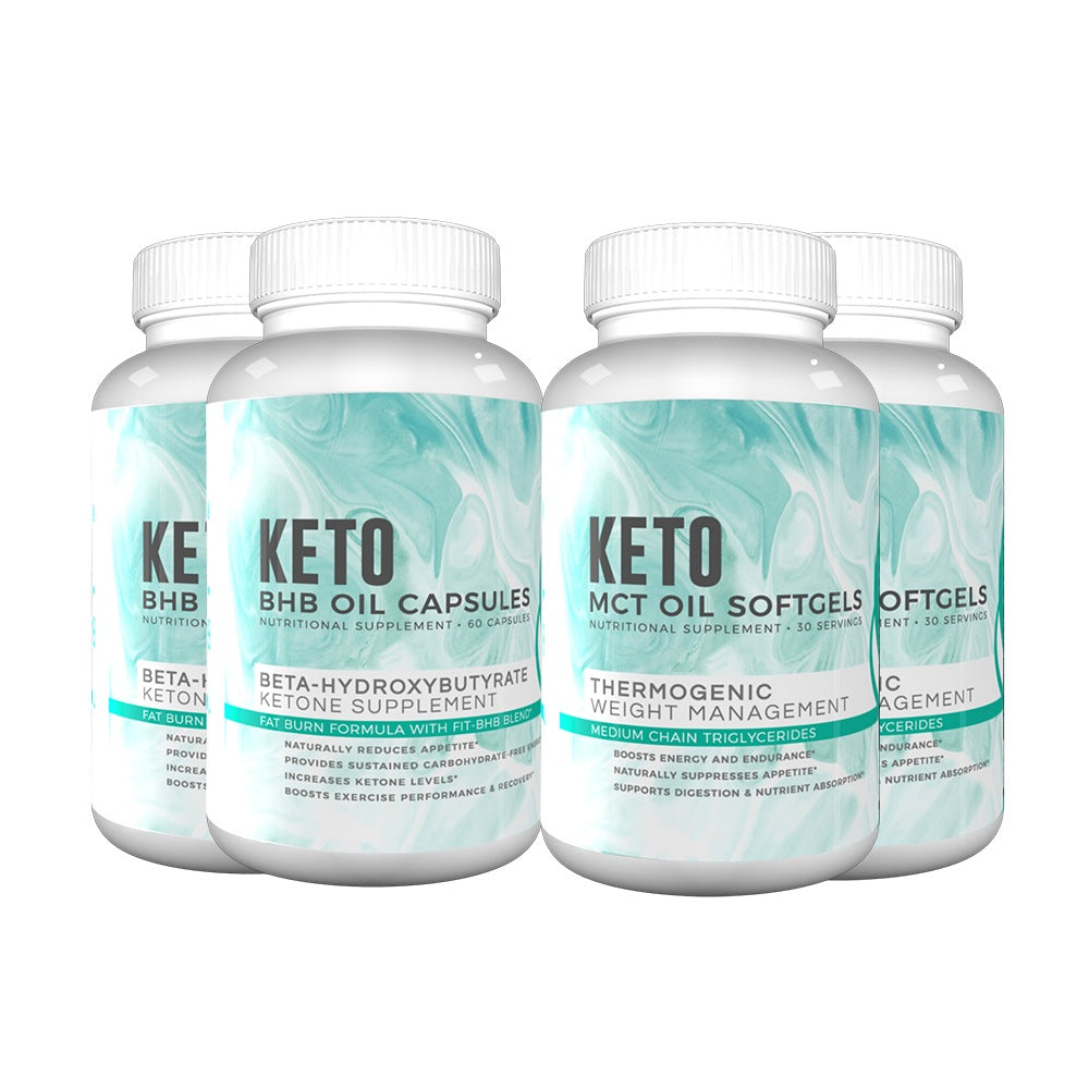 Exclusive Today Only - Keto Support Combo: BHB Capsules and MCT Softgels