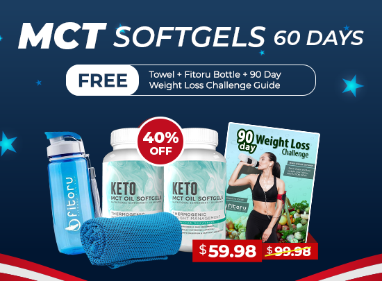 Independence Day Promo - MCT Softgels 60 Days with 40% Off + 3 BONUSES