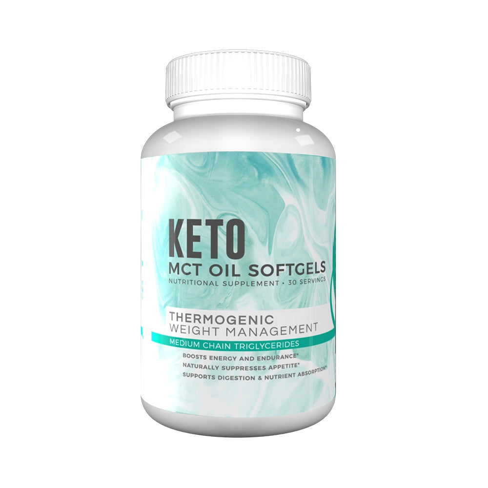 MCT Oil Softgels - 60 Days Supply + [FREE] Top Tastiest Keto Recipes eCookbook