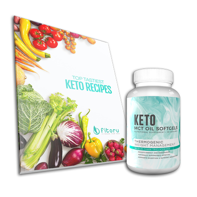 MCT Oil Softgels - 30 Days Supply + Top Tastiest Keto Recipes eCookbook
