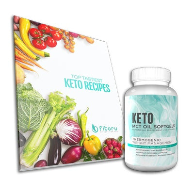 MCT Oil Softgels - 30 Days Supply + [FREE] Top Tastiest Keto Recipes eCookbook