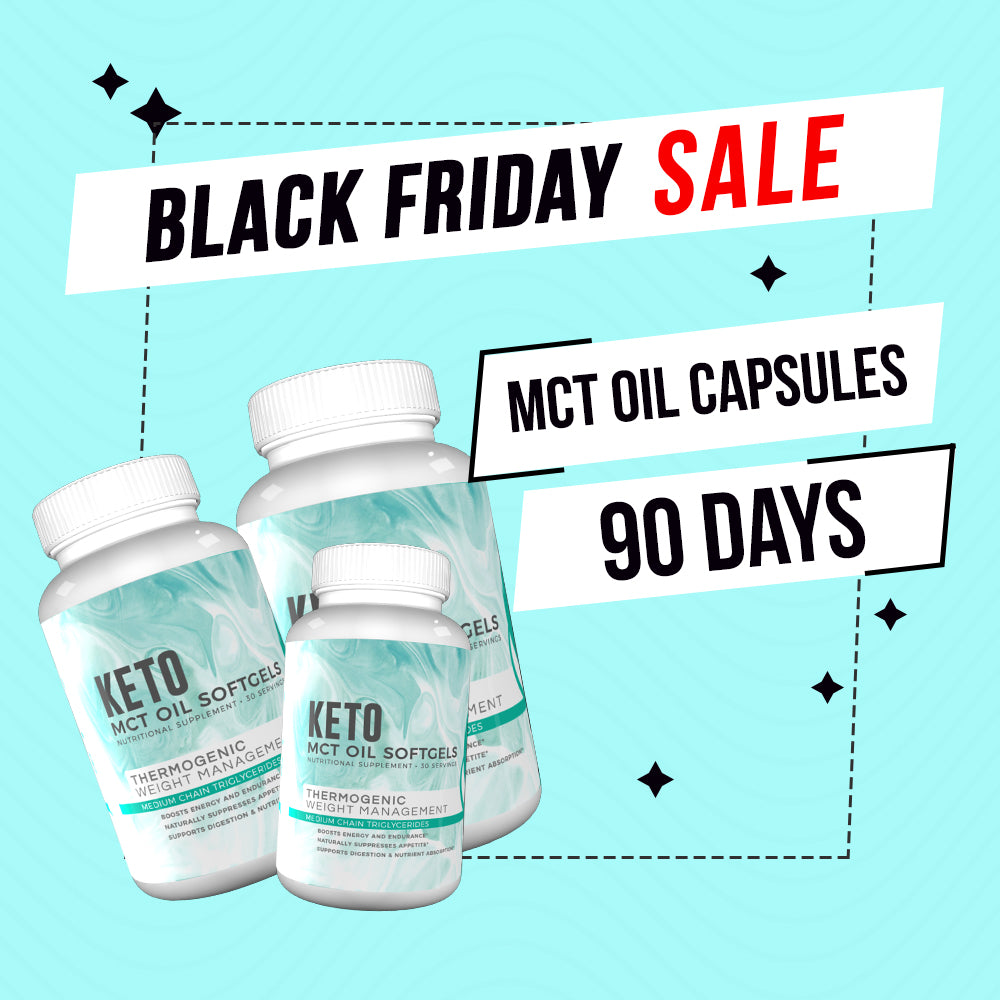 Black Friday Deal - MCT 90 Days + FREE Tracker Bracelet, FREE Double Layer Towel, FREE Fitoru Bottle, FREE Towel FREE 90 Days Weight Loss Guide eBook