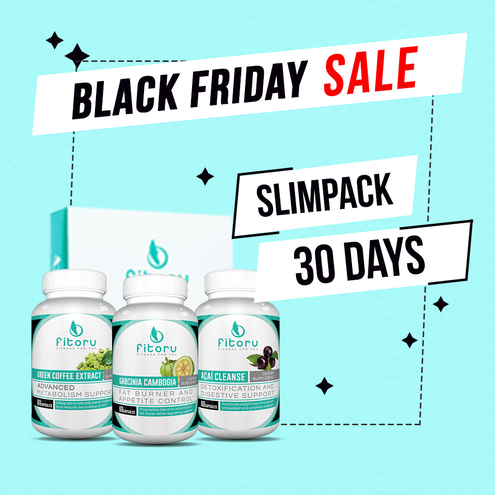 Black Friday Deal - Slimpack 30 Days + FREE Fitoru Bottle, FREE 90 Days Weight Loss Guide eBook
