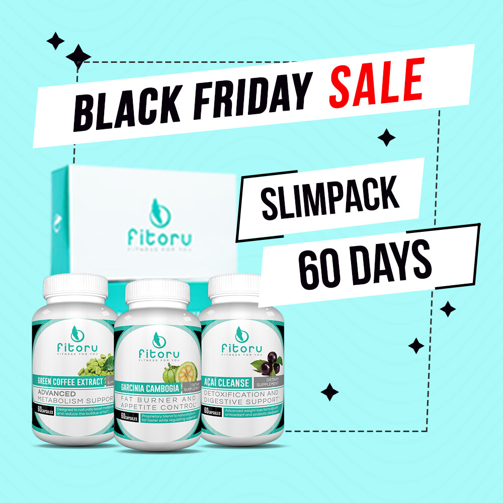 Black Friday Deal - Slimpack 60 Days + FREE Double Layer Towel, FREE Fitoru Bottle, FREE Towel FREE 90 Days Weight Loss Guide eBook