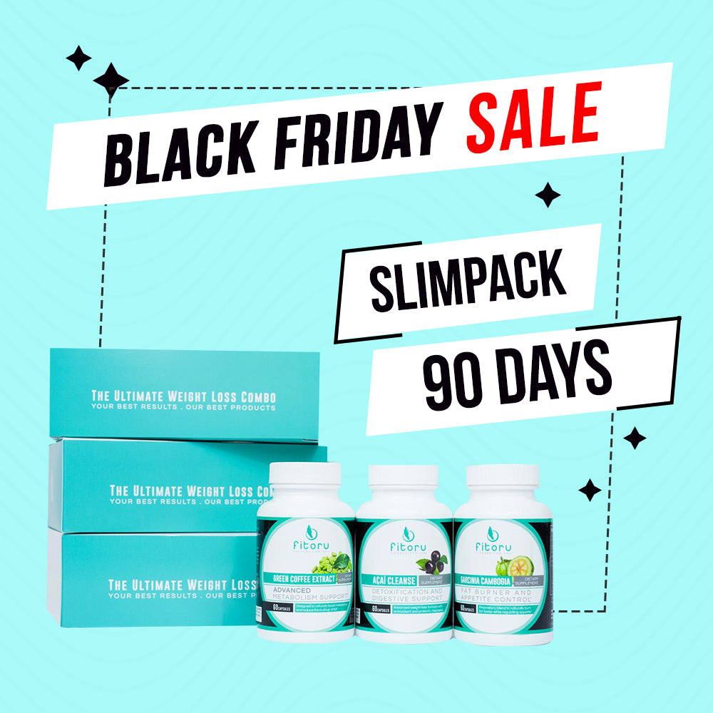Black Friday Deal - Slimpack 90 Days + FREE Tracker Bracelet, FREE Double Layer Towel, FREE Fitoru Bottle, FREE Towel FREE 90 Days Weight Loss Guide eBook