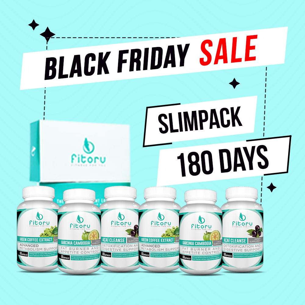 Black Friday Deal - Slimpack 180 Days + FREE Exclusive Walking Guide + FREE Tracker Bracelet, FREE Double Layer Towel, FREE Fitoru Bottle, FREE Towel FREE 90 Days Weight Loss Guide eBook