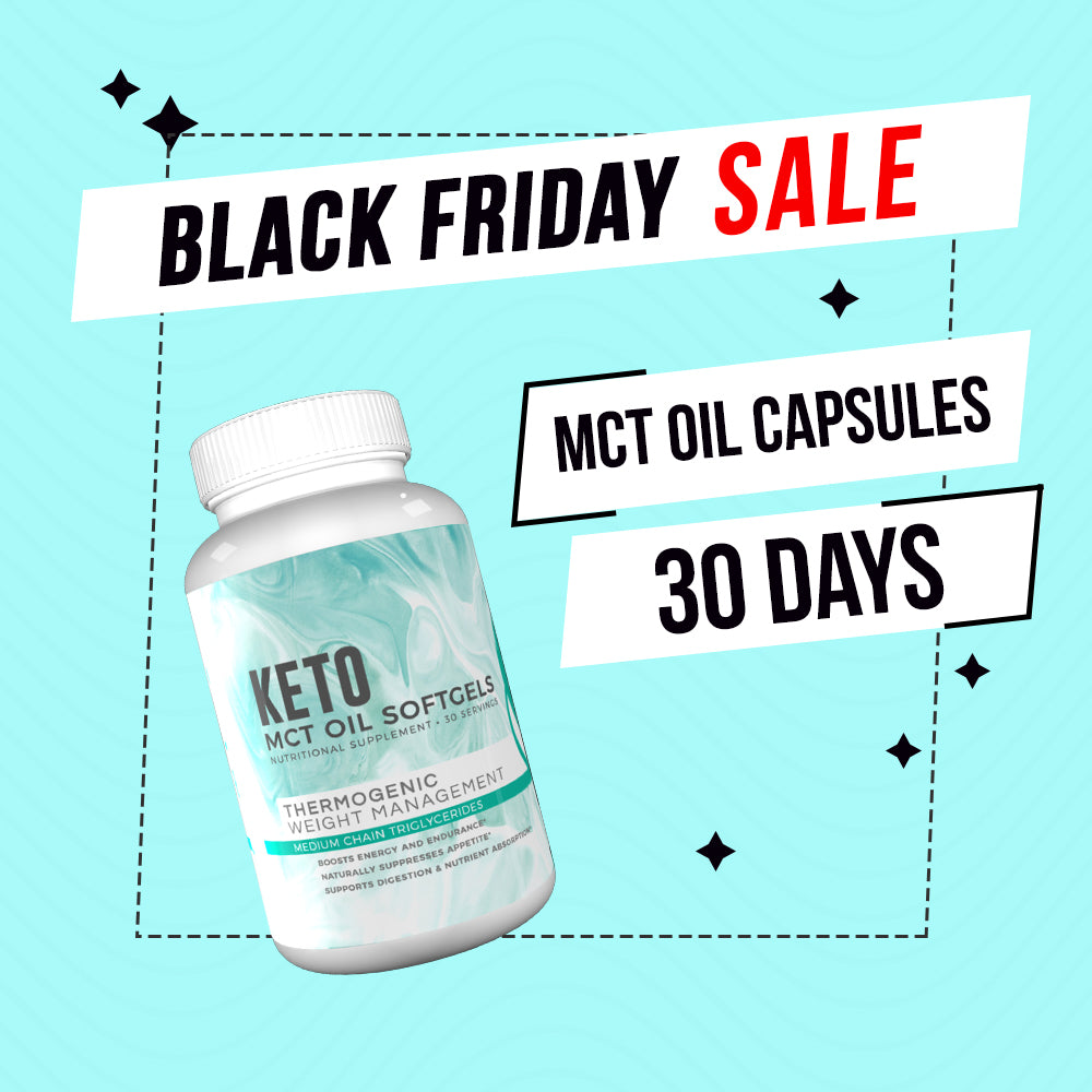 Black Friday Deal - MCT 30 Days + FREE Fitoru Bottle, FREE 90 Days Weight Loss Guide eBook